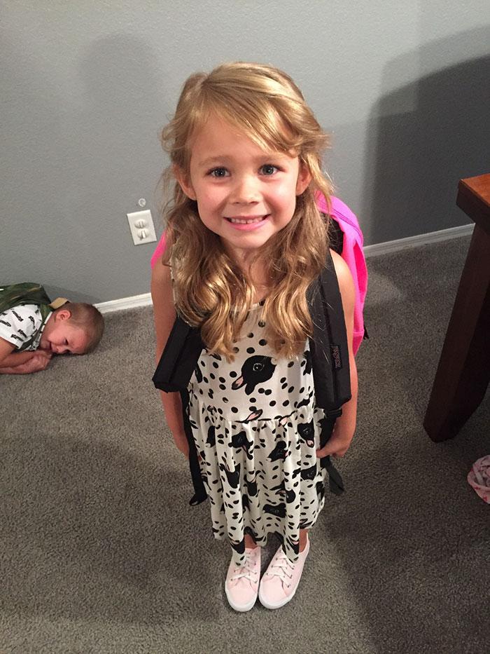 А тут 2 типи дітей, які по різному переживають перший шкільний день