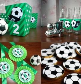 Декор к футбольному празднику